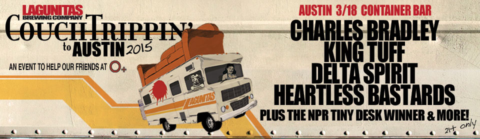 CouchTrippin - road to austin 2015 poster