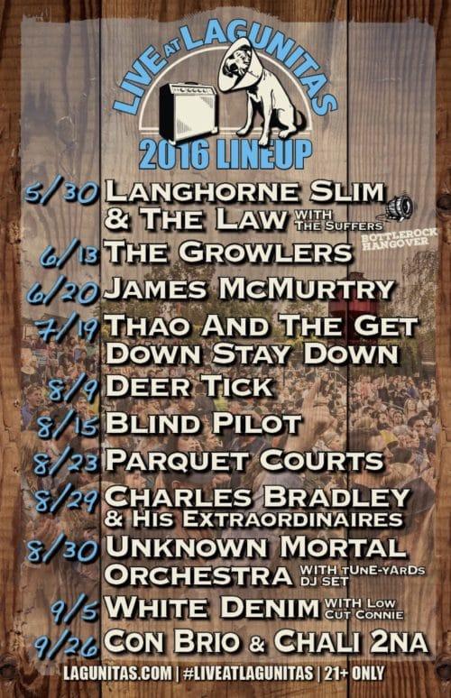4 Revised Live At Lagunitas 2016 Lineup - poster
