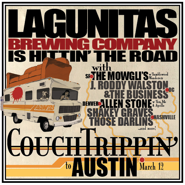 CouchTrippin - road to Austin Poster