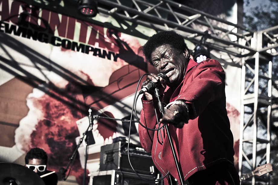 Charles Bradley singing in the Container Bar