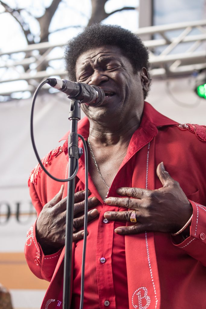 Charles Bradley singing from heart to people