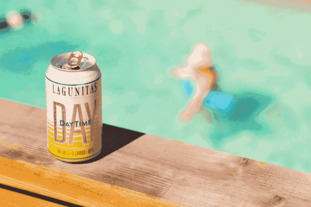 DayTime can at the pool