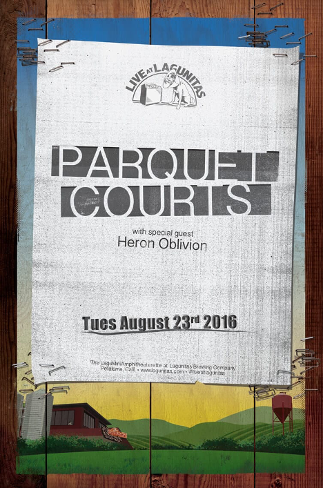 Parquet Courts with Heron Oblivion Poster