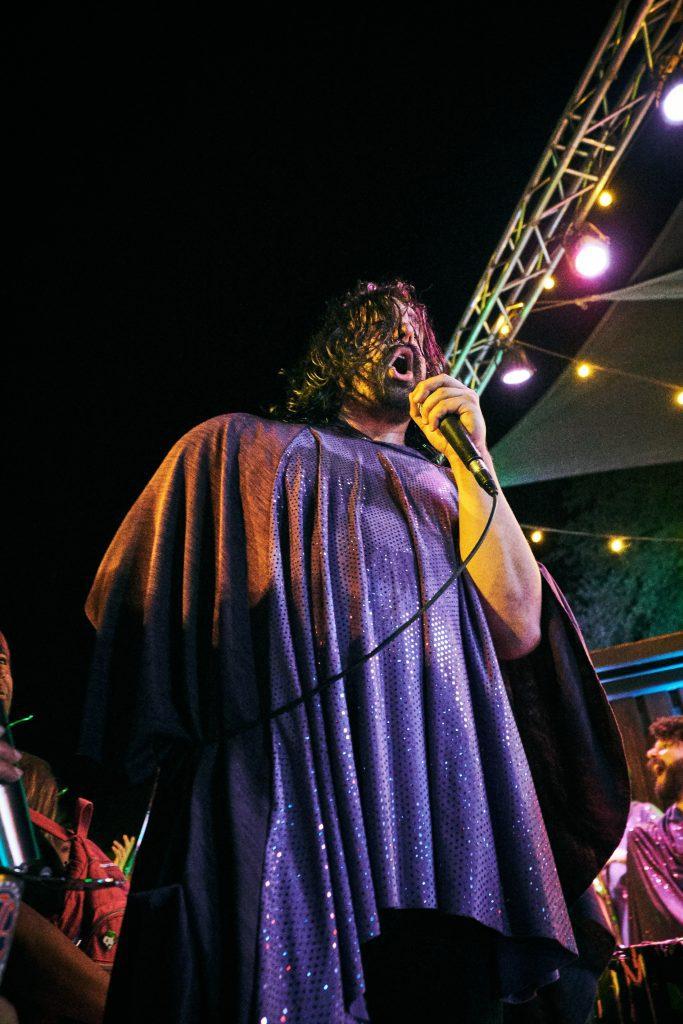 Man Man singing
