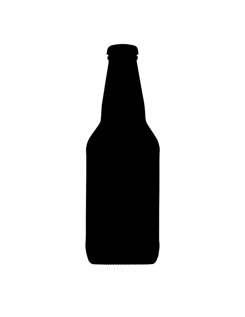 Silhouette Bottle Image Upright